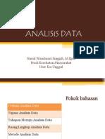 Pertemuan 13 Analisis Data