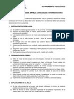 Recomendaciones de Manejo Conductual Para Profesores