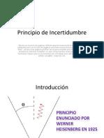 Principio de Incertidumbre (2)