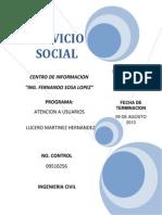 SERVICIO SOCIAL Lucero Martinez Hernandez