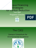 Campus Financing Strategies for Carbon Reduction