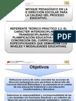 El Carácter Interdisciplinario y Transdisciplinario de La Planificación Educ