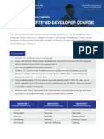 Titanium Certified Developer Course