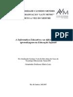Informática e as Dificuldades de Aprendizagem Na Educação Infantil