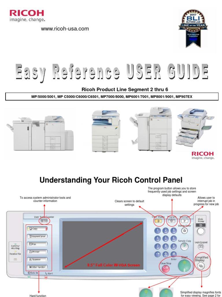 manual ricoh mpc 5000 copy image scanner fax rh scribd com MP C6000 Konica Minolta C6000