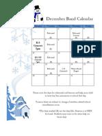 December Band Calendar