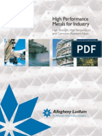 High Performance Alloys for Industry