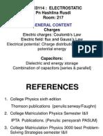 Kuliah 1 FMAX0114 Sesi201314 Elektrostatik