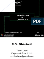 Presentation On joomla- R. S Dhariwal