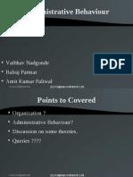 Presentation On Administrative Behavior- by Vaibhav Nadgonde