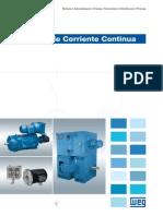 WEG Motores de Corriente Continua 50037241 Catalogo Espanol