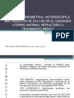 Resección Endometrial Histeroscópica Más Inserción de Diu-lng En