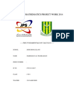 Additional Mathematics Project Work 2014 (1)