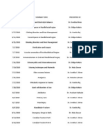 Seminars List