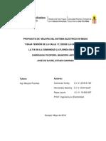Propuesta de Mejora Del Sistema Eléctrico en Media