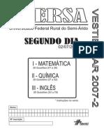 Ufersa20072 Segundo Dia Prova