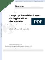 Les Proprietes Didactiques de La Geometrie Elementaire