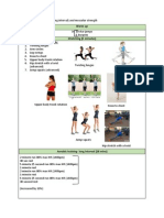 aerobic and muscular strength program