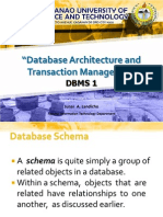 2.Database Arckoiukhitecture. and Transaction Management