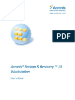 Acronis Backup & Recovery 10 Workstation User Guide