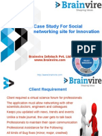 Case Study For Social networking site for Innovation