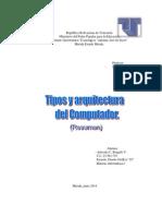 Tipos y Arquitectura Del Computador