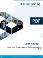 Platform for Comprehensive Vendor Research & Analysis
