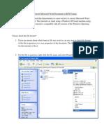Tutorial - Convert Microsoft Word Documents to RTF