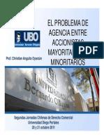 El Problema de Agencia Entre Accionistas Mayoritarios y Minoritarios
