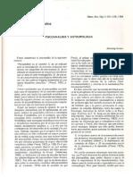 Psicoanalisis y Antropologia