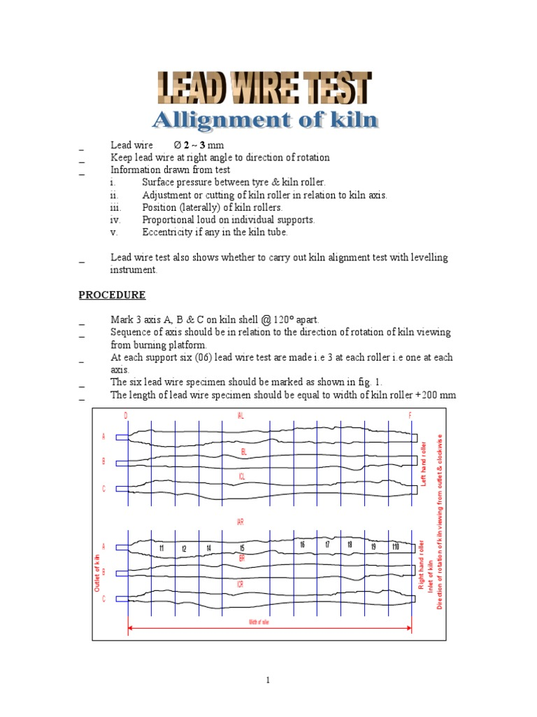 Lead Wire Test Tire Wear Kiln Wiring Diagram