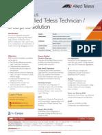 Net.Campus Certified Allied Telesis Technician / Enterprise Solution