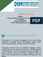 Portekizce Çeviri Hizmetleri - Adim Tercume
