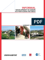 Informal Urban Development in Europe