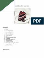 Reteta Ciocolata Berry Cake