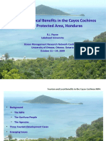 Tourism amd Economic Benefits in the Cayos Cochinos Marine Protected Area