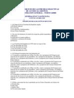 Test 120 Preguntas Auxiliares Generalitat Valenciana 1999