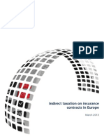 Indirect Taxation on Insurance Contracts in Europe 2013 2