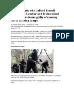 Islamic Fanatic Who Dubbed Himself Osama Bin London