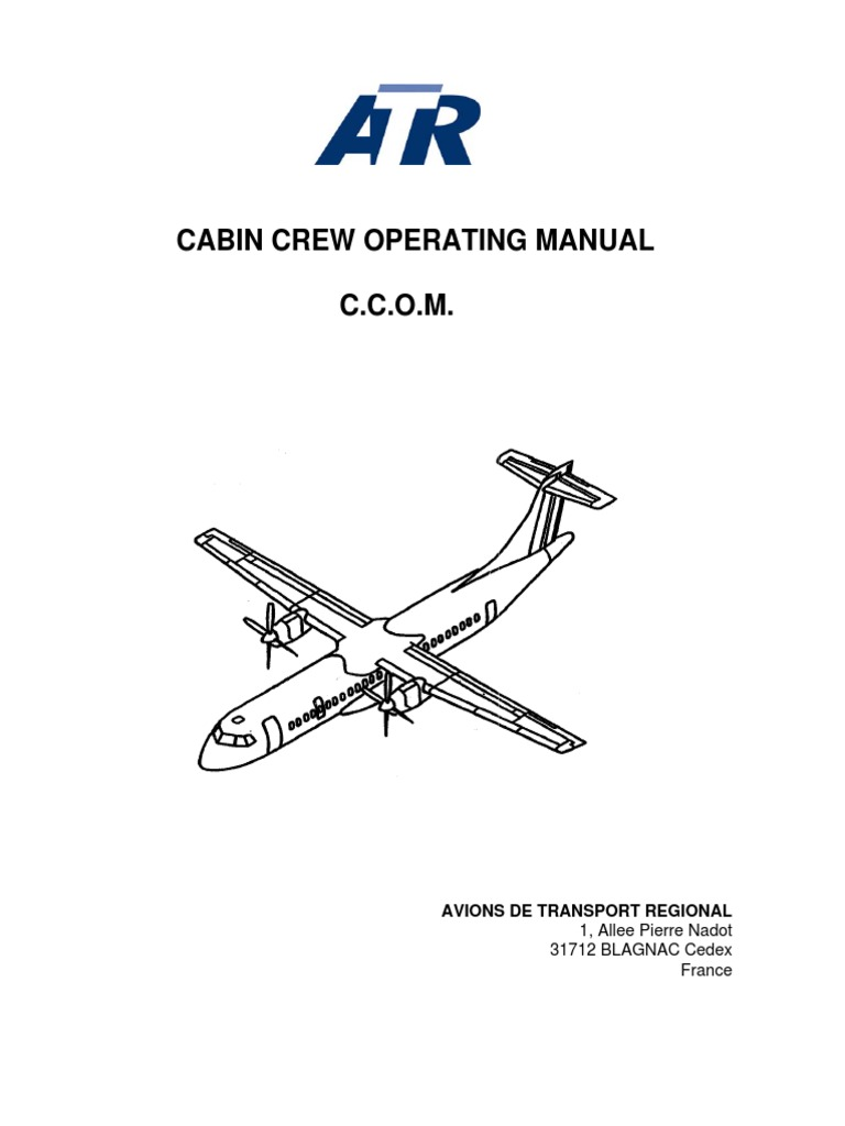 atr 42 cabin crew operating manual aviation aerospace engineering rh scribd com