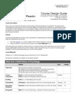 PSY 201 Course Syllabus