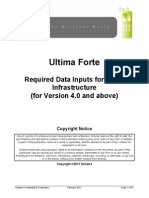 Ultima Forte Required Data Inputs for Nokia Infrastructure