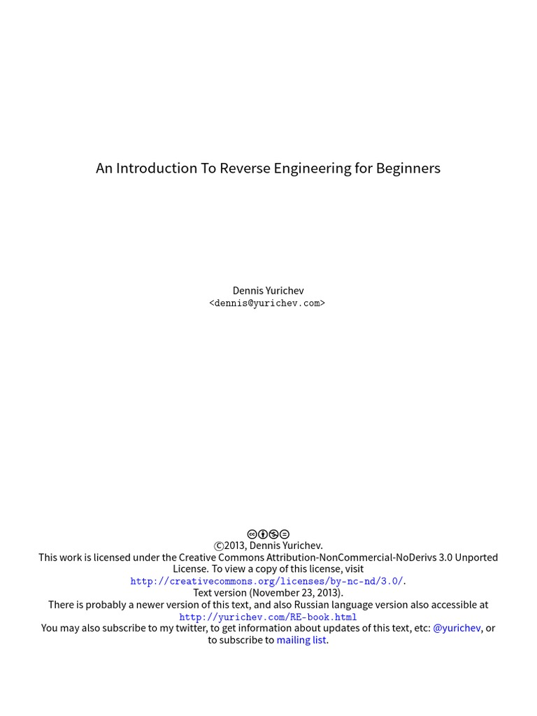 Reverse Eng for Beginners   Instruction Set   Arm Architecture