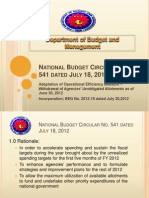 National Budget Circular No