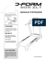 Manuale d'uso del tapis roulant Pro-Form 905 ZTL
