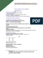 Ficha de Datos de Seguridad Pintura de Cal IEDISA