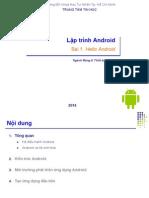 Bài 1 - Hello Android