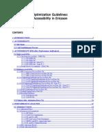 Optimization Guidelines ACCESSIBILITY Ericsson Rev01 Libre