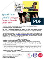 Time Credits Poster - Comedy Club 4 Kids
