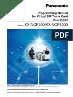 KX-NCP500 1000CN Programming Manual for SIP